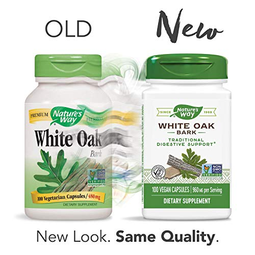 Nature's Way White Oak Bark, 960 mg per serving, 100 Capsules