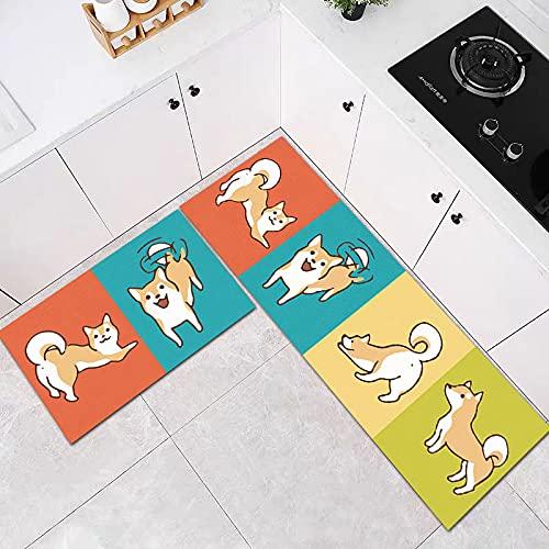 HLXX Alfombra de Cocina a Prueba de Aceite Impermeable Antideslizante baño Suave Alfombra de Piso de Dormitorio Alfombra de Moda para Sala de Estar Alfombra de Cocina A5 40x60cm + 40x120cm