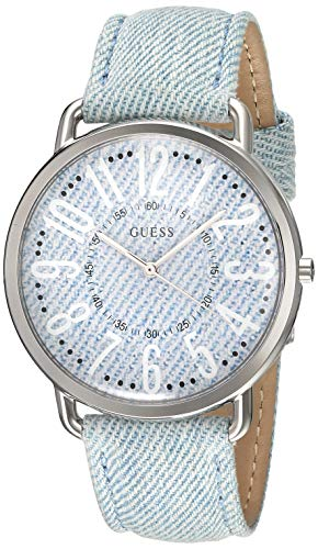 Guess Watches Women's -Silver Denim Watch