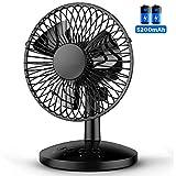 USB Desktop Battery Fan, FUNME 120° Oscillating Table Fan 5200mAh Enhanced...