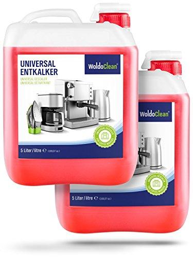 Entkalker für Kaffeevollautomaten & Kaffeemaschinen 2x 5 Liter – Kanister mit Ausgießer