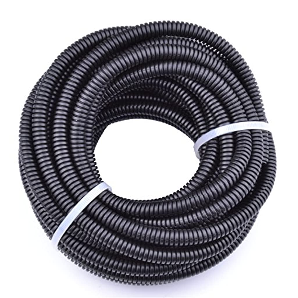 30FT Polypropylene Split Wire Loom Tubing Computer Cable Management Wire Cover Electrical Cord Hider Hose Protector Prevent Chewing Tube (3/8
