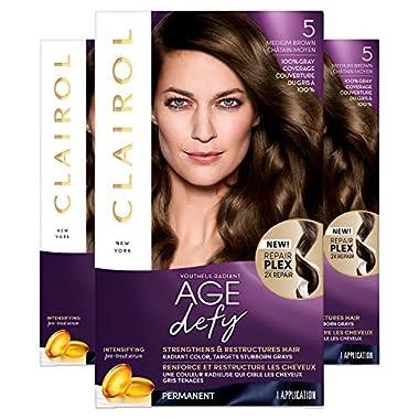 Clairol Age Defy Permanent Hair Dye, 5 Medium Brown Hair Color, 1 Count