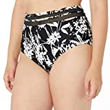 Tommy Hilfiger Women's High Waist Bottom with Mesh Panel Inserts, Black, Large