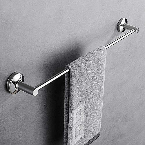 MUZILIZIYU Taladro Free 304 Toalla de Acero Inoxidable, Barra de Toalla de baño de una Varilla, riel de Toalla de Montaje en Pared para la Oficina de Dormitorio Office-F 80cm