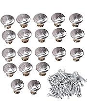 Kast knoppen lade knoppen - 20 stuks ronde meubelknoppen kastgrepen lade commode handgrepen voor kast kantoor lade, deurknoppen, meubelknop (zilver) (big)