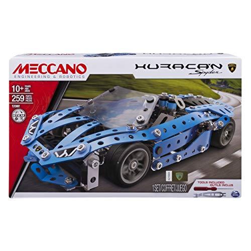 MECCANO- Auto Sportiva Confezione di Pezzi in Metallo per Costruire Una Riproduzione Dettagliata di Una Lamborghini Huracan, 6036480