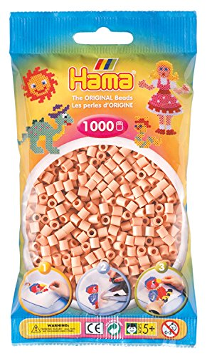 Hama 207-26 Bügelperlen Midi, ca. 1000 Perlen in Hellrosa