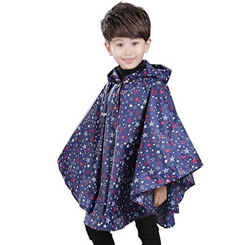 Majing Regenbekleidung- Kinder Kapuzenmantel Atmungsaktiver Poncho, Jungen Und Mädchen Kindergarten 1-10 Jahre Regenmantel 100% Wasserdicht Dünnschliff (Size : M)