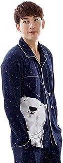 Ladies Mens Pajamas Long Sleeve Printed Pajama Set Elegant Classic Young Fashion Comfortable Cute Nightgown Pajama Pants A...