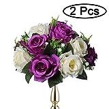 Supporto per Fiori in Argento Cerimonie di Celebrazione Sziqiqi Set di 2 Centrotavola per Matrimonio in Metallo Alto per Tavoli da Ricevimento L /× 2 Eventi Base per Decorazioni per Feste