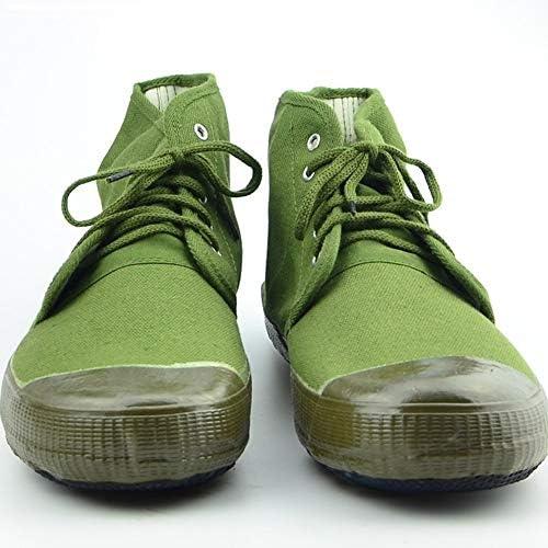 RcnryPing Hejun Grün Anti-Rutsch-Schuhe Canvas Bauernhof-Schuhe Tragbare Bauernhof-Arbeiter Arbeitsschutzschuhe