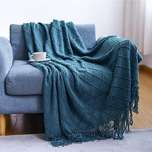 Chunky Knit Fußkettchen Beige ssel PlaiWeight Fußkettchen für BeHome Dekorative Sofaüberwürfe Industrial Style pestry-diamonmorandi ue,127x170cm