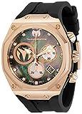 Technomarine Men's Reef Sun Stainless Steel Quartz Watch with Silicone Strap, Black, 32.5 (Model: TM-519016)