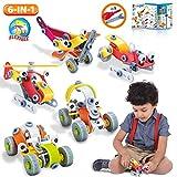 lenbest blocs de construction jouets, 167 pcs stem diy kit d'apprentissage, educatif créatif cadeau pour enfants garçons et filles - en matière plastique abs