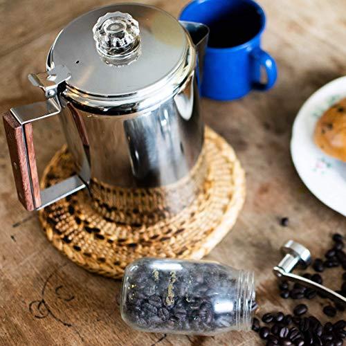 Coletti'Bozeman' Percolator Coffee Pot - 9 CUP Camping Coffee Pot   Coffee Percolator