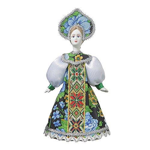 danila-souvenirs Bambola di Porcellana Fatta a Mano Russa in Costume Popolare Tradizionale 18 cm 06-13
