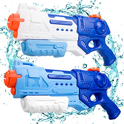 VEPOWER Water Guns for Kids, 2 Pack Super Squirt Guns 900CC High Capacity Long Range Shoot Water Toys, Summer Outdoor Swimming Pool Beach Water Fighting Toys Gifts for Kids&Adult Boys Girls Ages 4-8