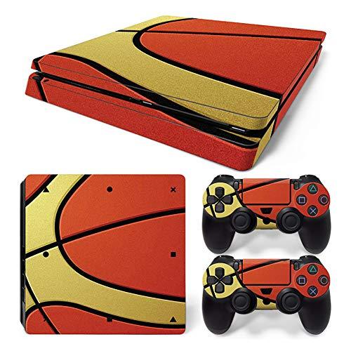 UUShop Handy Skin Aufkleber für Sony Playstation 4 Slim PS4 S Konsole Basketball
