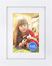 RPJC 6×8 inch Picture Frame Made of Solid Wood and High Definition Glass Display..