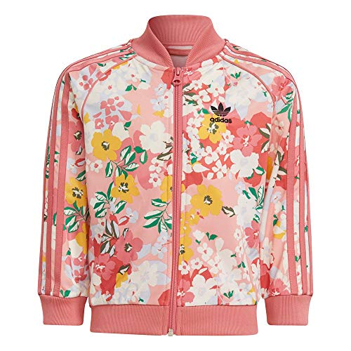 adidas GN4210 SST Set Tuta da Ginnastica Bambina Trace Pink/Multicolor/Hazy Rose 5-6A