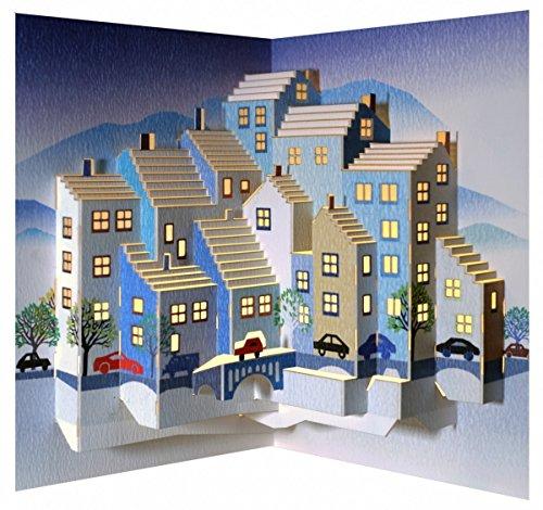 FOREVER Pop Up 3D Karte Geburtstag Gutschein Neue Wohnung Traumstadt 16x11cm