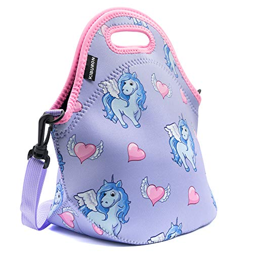Unicorn Neoprene Insulated Lunch Bags with Carry Handle and Shoulder Strap Waterproof Lunch Bag for Teens,Kids,Women