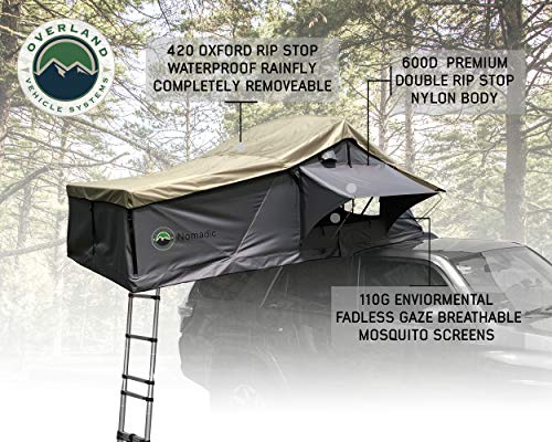 Campoint 2-3 Person Sunroof Rooftop Tent with Rainfly and Ladder