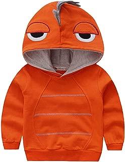 Boys Autumn Long Sleeve Strip Dinosaur Hoodie Toddler Outwear Clothes 1-6T