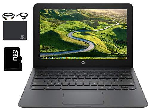 "2020 HP Premium Chromebook 11.6"" HD Laptop Business & Student, Intel Celeron N3350, 4GB RAM, 32GB eMMC+64GB SD Card, HD Webcam, Bluetooth, Chrome OS, Wireless-AC,WiFi, USB-A&C, w/HubXcel Accessories"
