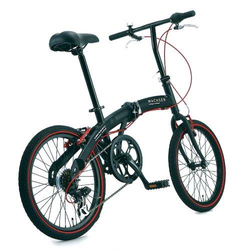 WACHSEN(ヴァクセン)20インチ折りたたみ自転車【軽量アルミフレーム】シマノ6段変速高速52TチェーンホイールVブレーキ13.0kgAngriffBA-100-BRD