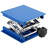 Table Élévatrice Élévateur pour plate-forme de laboratoire de laboratoire Résistant à la corrosion Élévateur réglable pantographe électrolytique aluminium Bleu