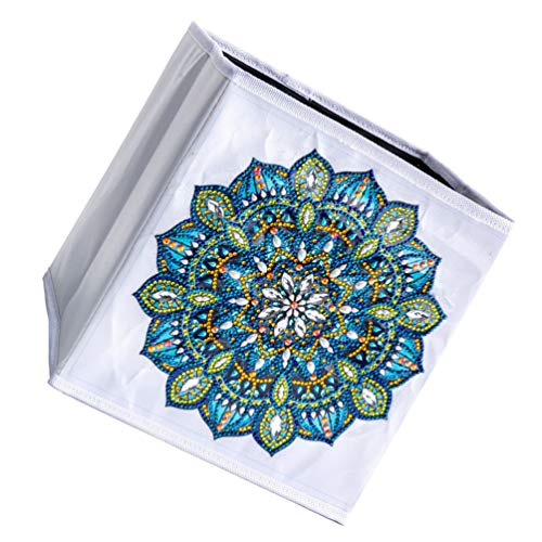 Hemoton 1 Ensemble Diamant Peinture Broder Cas Contenant des Articles Divers Boîte De Rangement De Bureau pour Enfants Femmes Hommes Blanc