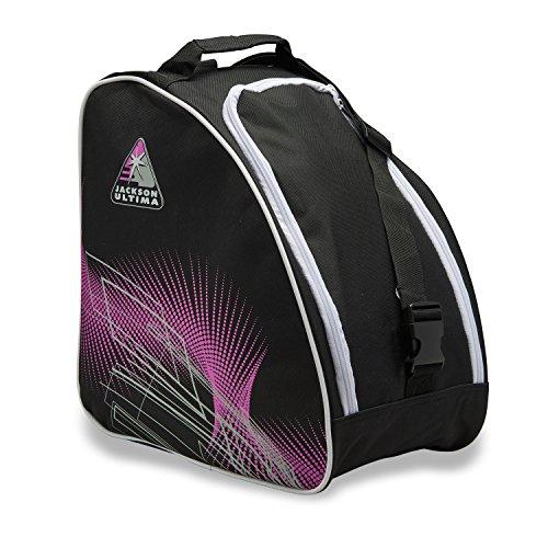 Jackson Schlittschuh-Tasche, Übergroße, schwarz/lila.