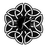 Reloj de pared celta de vinilo, hecho a mano, diseño vintage, regalo único, dormitorio, hogar, guardería, habitación de niños, decoración de pared