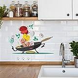 Cartoon Küche Wandaufkleber Für Küche Kühlschrank Schrank Dekoration Kunst...
