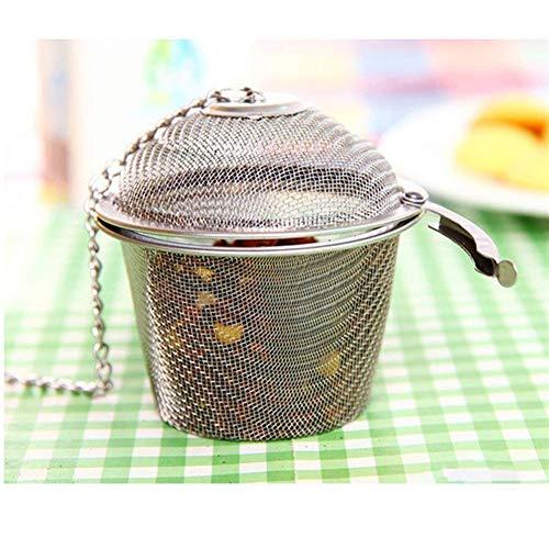 Colador de té con Tapa Reutilizable Theezeefje Filtro Infuseur La Hoja tee Sieb tamiz del té de té Bola de Acero Bolas for Infusión de Malla de Infuser del té Infusor de té
