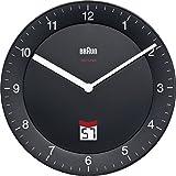 Braun BNC006 BKBK Orologio da parete, colore: Nero, black