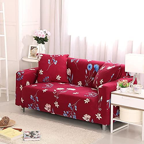 Funda de sofá, tamaño universal, funda de sofá de 1/2/3/4 plazas, elástica, fundas de sofá, fundas de almohada, decoración del hogar para sofás (color: K6060, especificación: AB 145 180 cm)