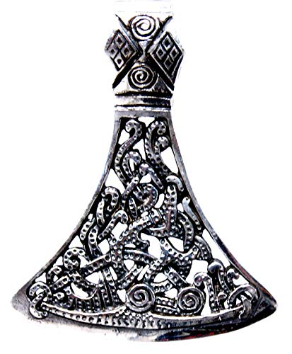 Kiss of Leather Hanger Viking-bijl van 925 sterling zilver nr. 385