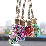 Huakaimaoyi Deodoranti Personalizzati per Auto Appesi Deodoranti per Auto Bottiglia di Profumo Ricaricabile Specchio per Auto Accessori per Appendere 5 Pezzi-Multicolore