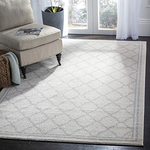 Safavieh Amherst Collection AMT422E Moroccan Trellis Area Rug, 8' x 10', Beige/Light Grey