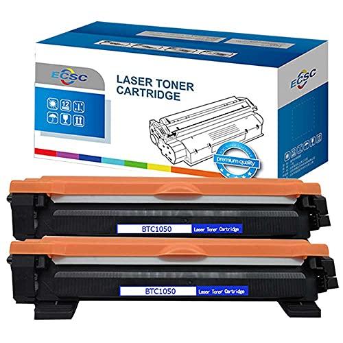 InkJello kompatibel Toner Patrone Ersatz für Brother DCP-1510 1512 1610W 1612W HL-1110 1112 1210W 1212W MFC-1810 1910 1910W TN1050 (Schwarz 2-Pack)