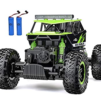 RC Car NQD Remote Control Monster Truck 2.4Ghz 4WD Off Road Rock Crawler Vehicle 1 16 All Terrain Rechargeable Electric Toy for Boys & Girls Gifts