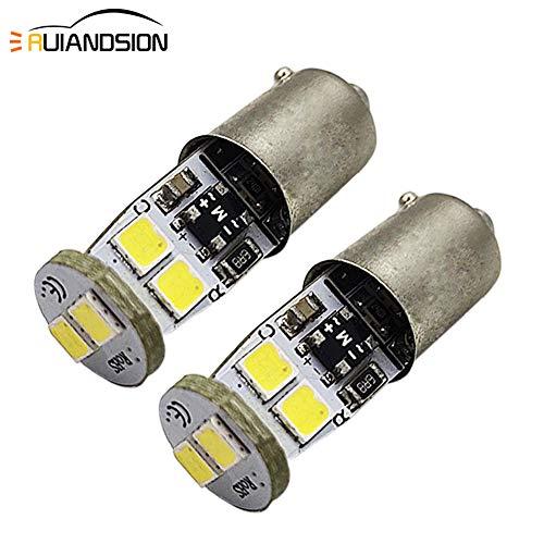 Ruiandsion Lot de 2 ampoules LED Canbus BAX9S 12–18 V 6000 K Blanc 3030 6SMD LED pour éclairage intérieur, liseuse, plafonnier, carte