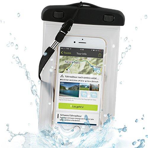 Wicked Chili Beachbag/Outdoor Bag für Apple iPhone X / 8/7 / 6S / 6 / SE / 5S, iPod Touch - Schutzhülle für Strand, Wandern, Outdoor (Schutz gegen Staub, Sand, Nässe/wasserdicht bis 3m / IPX8)