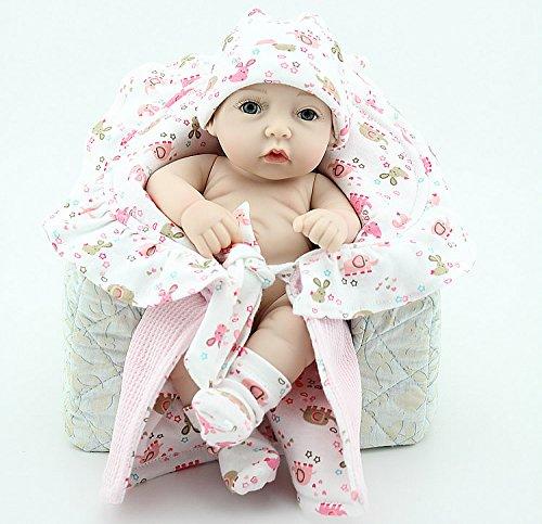 Nicery Reborn Baby Dura del Silicone Reborn Bambola Reborn Bambino 11inch 28 Centimetri Impermeabile Giocattolo Un Piccolo Quilt Ragazze Reborn Doll A3IT