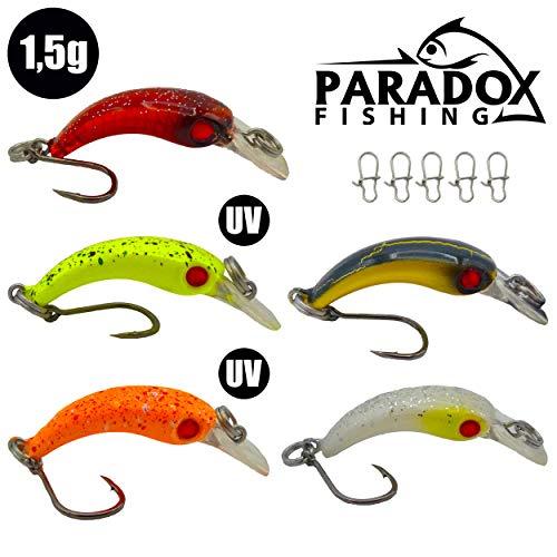 Paradox Fishing Wobbler Set (3,9cm 1,5g Lauftiefe: ca. 0,6m)