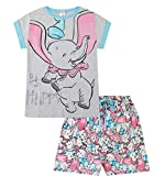 Disney Dumbo Be Happy Long Ladies Short Cotton Pyjamas (16-18) Blue