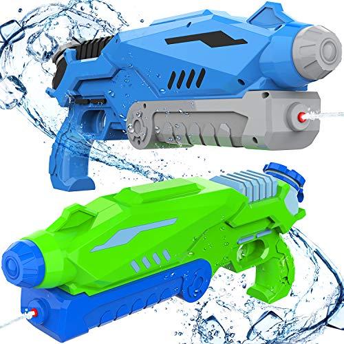 Joyjoz Pistole ad Acqua 2 PCS, 800ML Potente Pistola ad Acqua per Bambini e Adulti Estivi All aperto Giocattoli per Divertimento